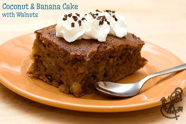 coco coconut orange walnut banana cake recipe