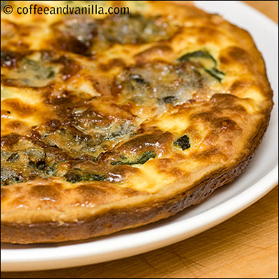 easy spinach quiche recipe with DIY pastry