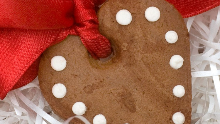 Heart Shaped Christmas Tree / Valentine's Day Chocolate Cookies