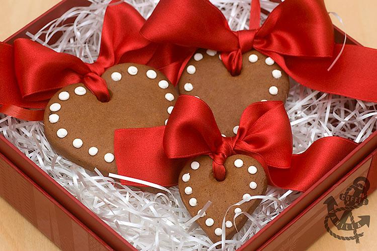 heart shaped Christmas tree cookies