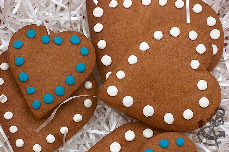 spotty heart shaped cookies