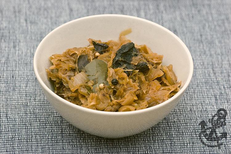 Polish Sauerkraut with mushrooms and sausage