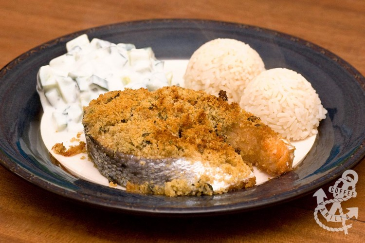 baked salmon recipe with parmesan and bread crumbs
