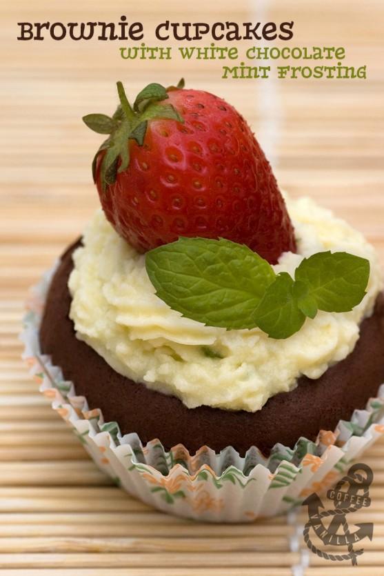 white chocolate and brownie cupcake recipe