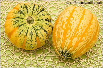 acorn shaped winter squash green and yellow