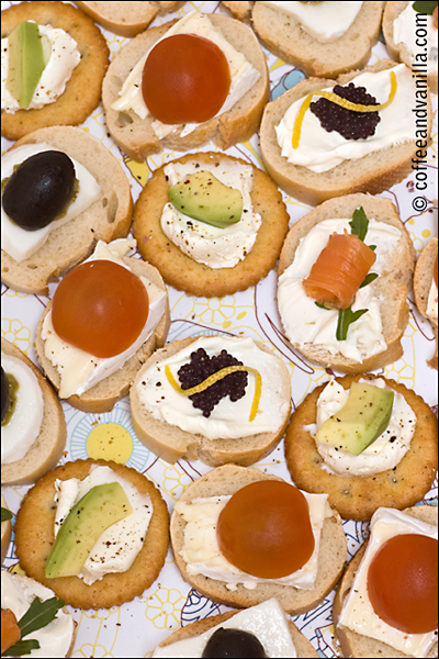various party sandwiches - flavour combination ideas