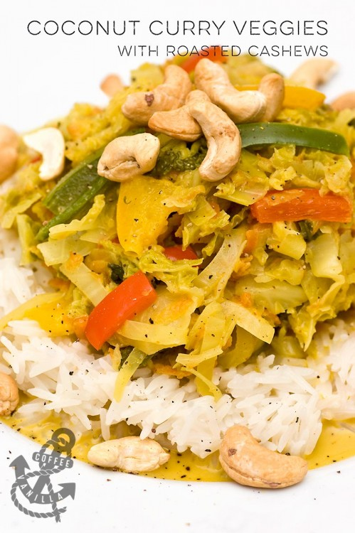 Jamaican cabbage with coconut and curry recipe