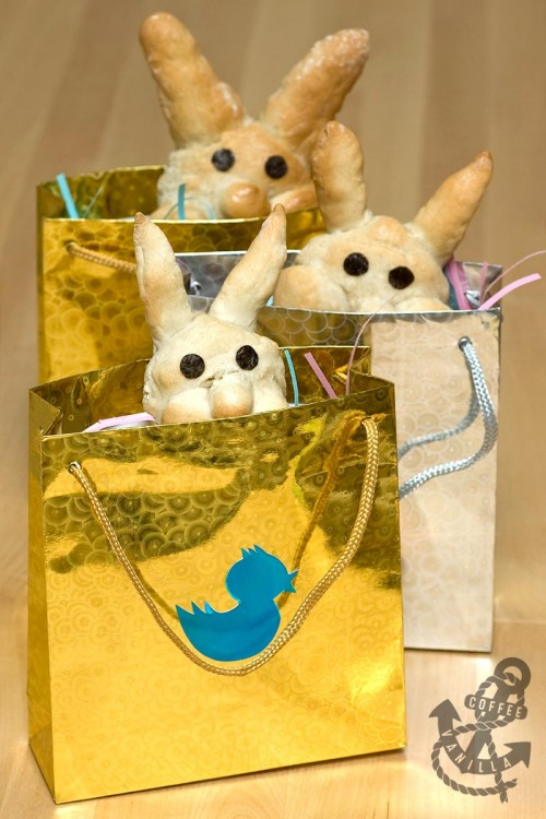 how to make Easter bread bunnies for children