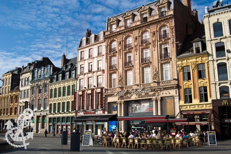with Eurostar to Lille France city centre main square