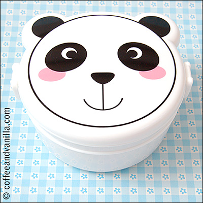 two tier panda bento box kawaii