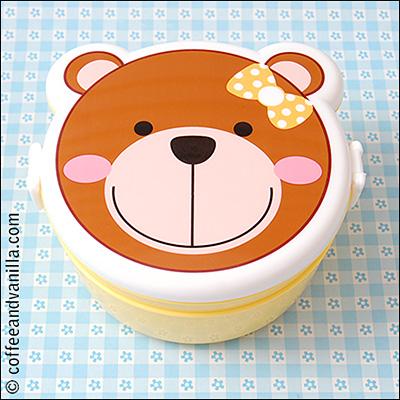 teddy bear shaped lunch box