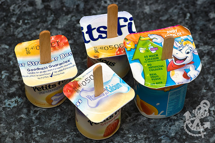 yogurt pops yogurt Popsicles made with fromage frais