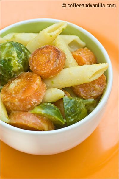 carrots mackerel pasta curry coconut salad