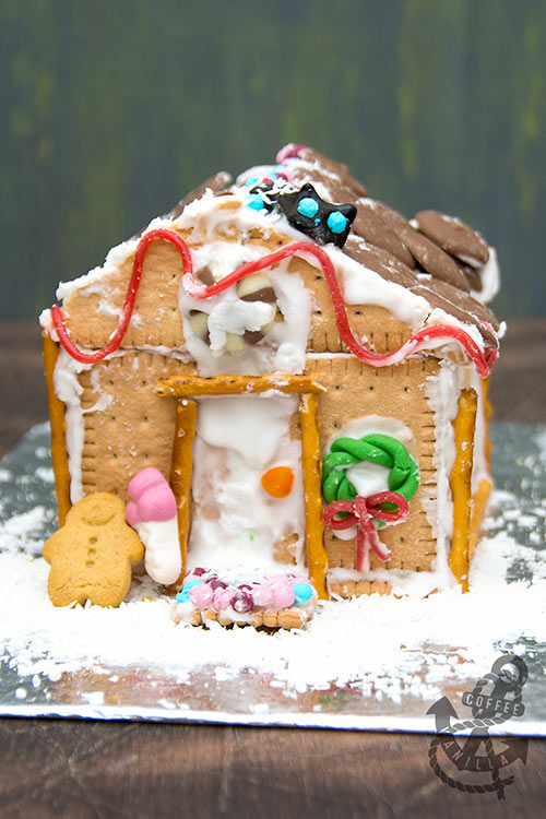 gingerbread house made out of cookies