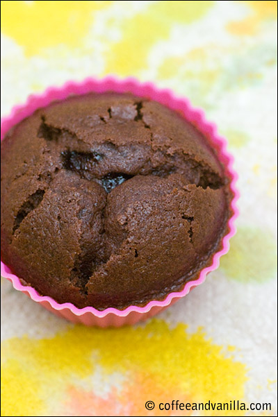 chocolate muffins with marmalade filling recipe