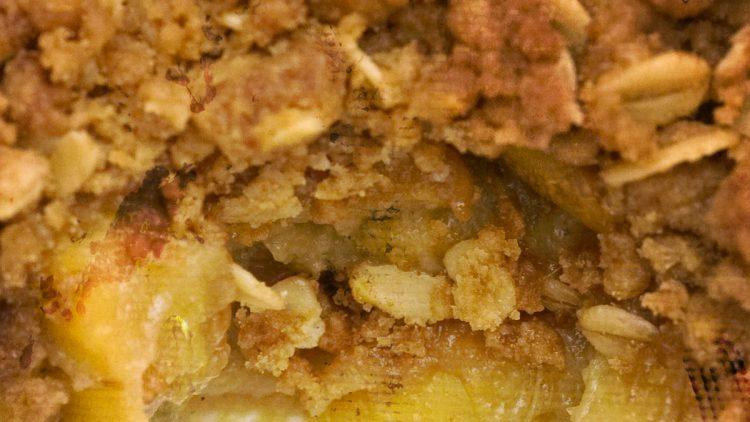NHS Apple, Rhubarb & Ginger Crumble