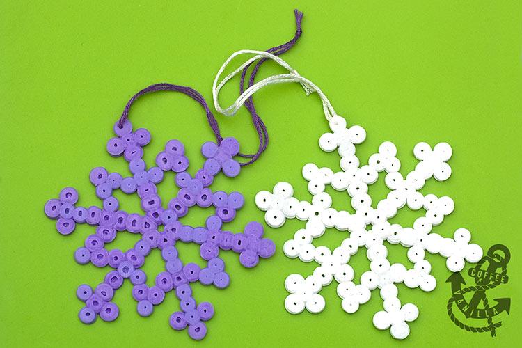 Christmas children's crafts Ikea Bead Snowflakes