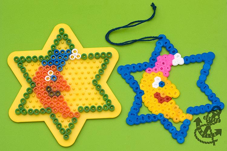 Hama bead snowflake pattern