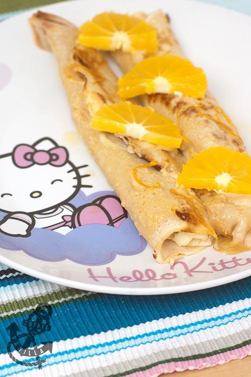 baked cream cheese orange pancakes