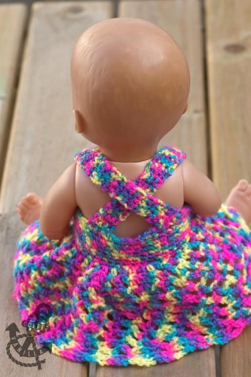 crochet dolls dress pattern