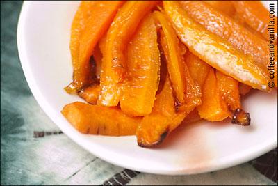 roasted sesame ginger honey carrots