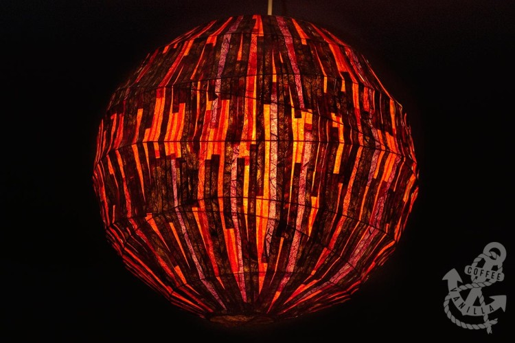 handmade paper lamp shade from mulberry tissue