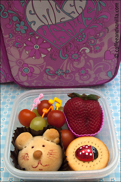 lunchbox with homemade yeast bread roll