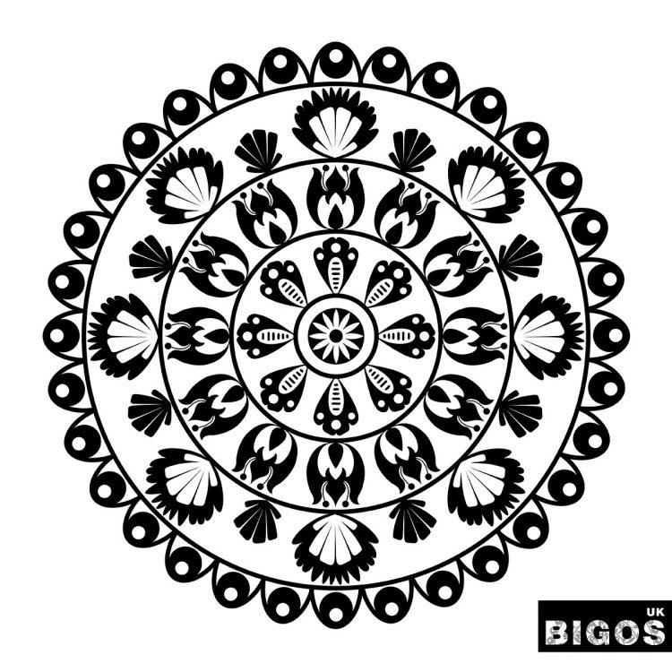 Polish folk pattern mandala