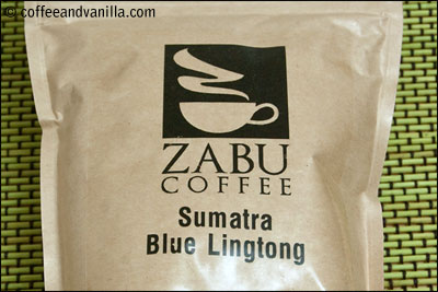 Sumatran coffee from ZABU