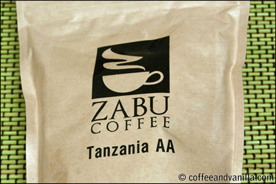 Tanzanian coffee from ZABU