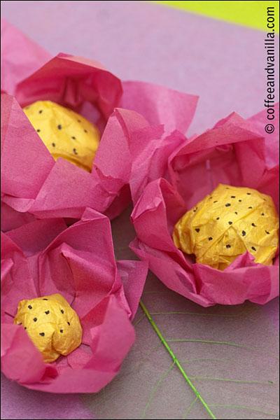 DIY handmade paper lotus flowers