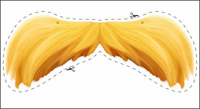The Lorax moustache printable