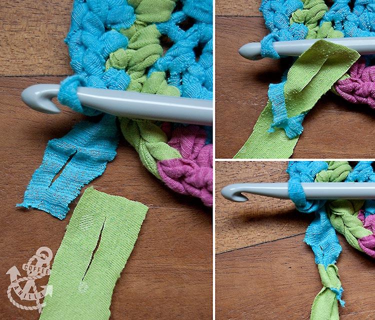 t-shirt rug connecting t-shirt yarn