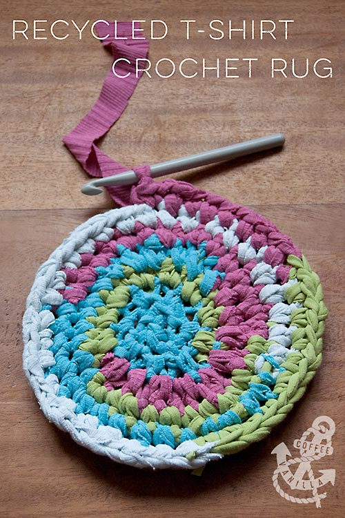 t-shirt crochet carpet rug