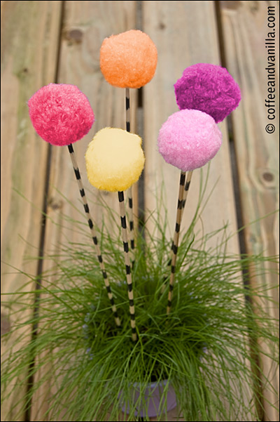 Dr. Seuss' The Lorax fluffy trees DIY project