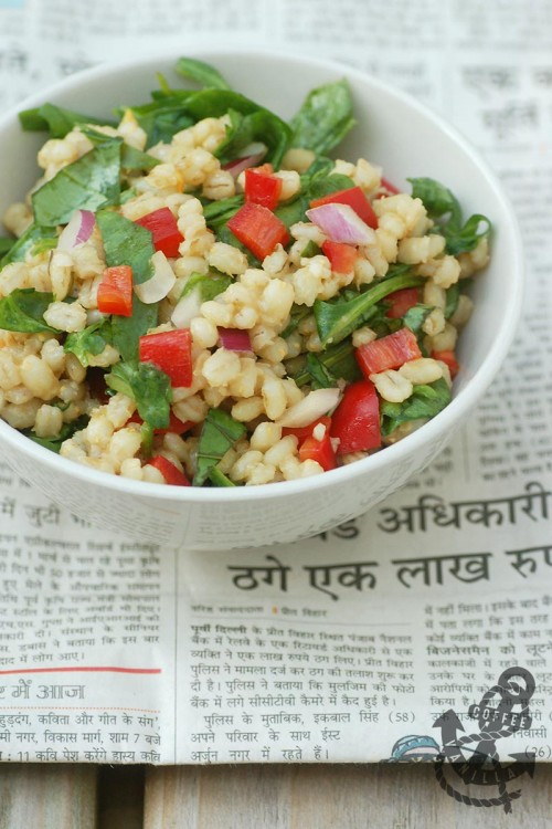 healthy pearl barley salad