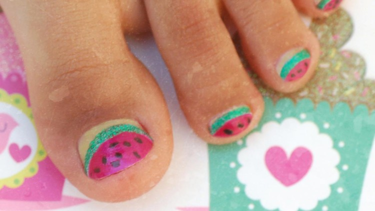 Summer Kids' Nail Art – Cherry Fingers & Watermelon Toes