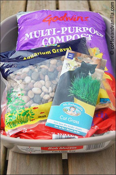 hamster garden materials gravel soil cat's crass pebbles seeds