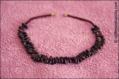 natural brown necklace hand made