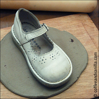 white clay shoe step by step