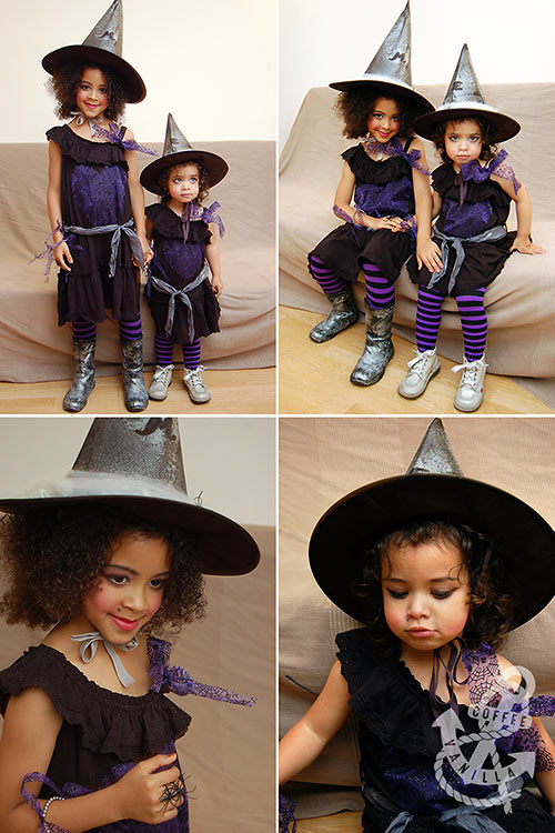 purple and black witch outfit