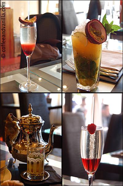 Chamberry, Mamounia Mojito, Moroccan Tea and Passion Champagne