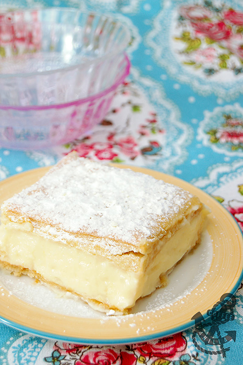 Polish vanilla custard pie