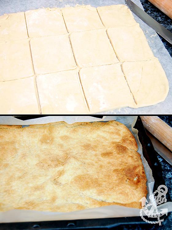 puff pastry filled with vanilla custard cream