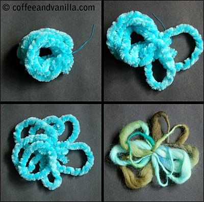 how to felt yarn button brooches