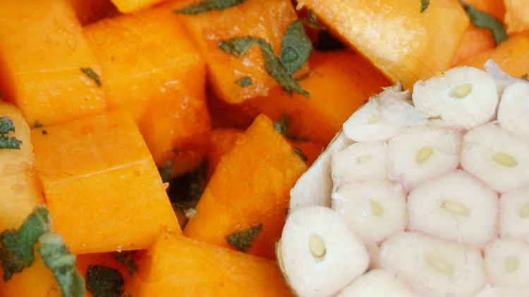 Mixed Winter Squash Roasted with Rosemary, Sage & Garlic