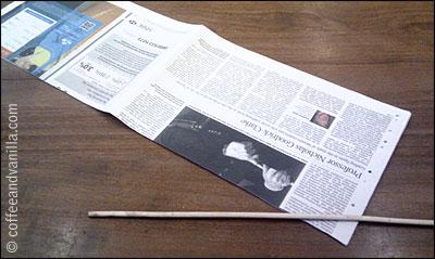 newspaper crafts tutorial