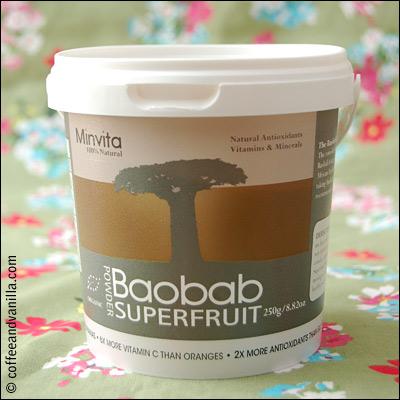 100% natural African baobab tree fruit powder