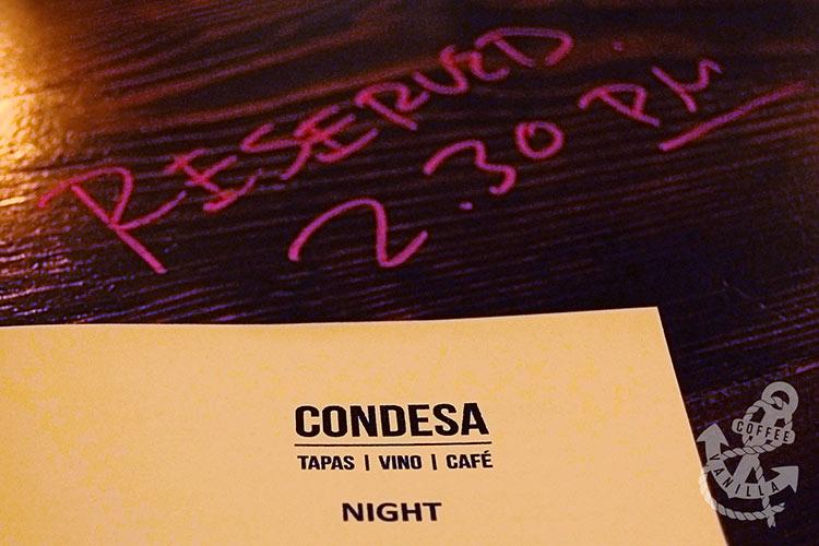 Condesa tapas menu 15 Maiden Lane Covent Garden