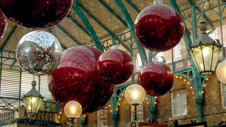 Christmas at Covent Garden Market in London